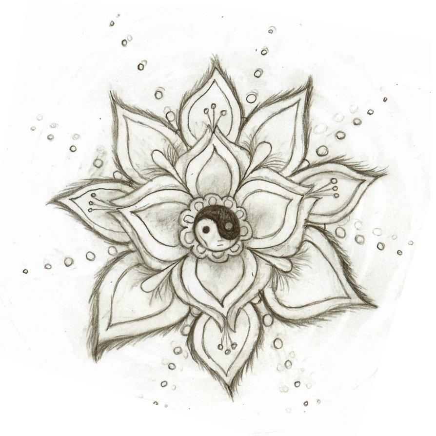 894x894 Tumblr Drawings Flowers Cute Yin Yang Tumblr