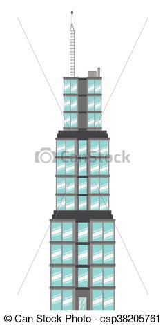 239x470 Simple Flat Design Sears Tower Icon Vector Illustration Clip Art