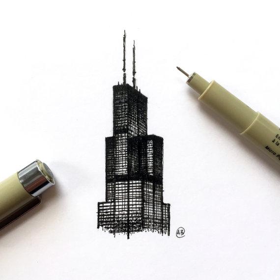 570x570 Willis Tower Sears Tower Chicago Skyscraper 5x5