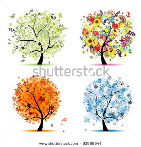 450x470 10 Best Seasons Images On Tree Drawings, Four Seasons