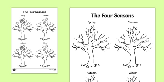 630x315 Four Seasons Tree Drawing Template