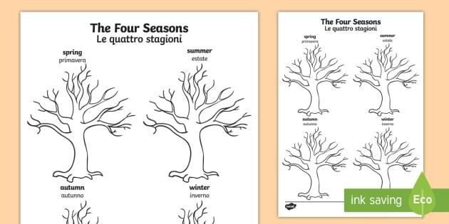 630x315 Four Seasons Tree Drawing Template Englishitalian