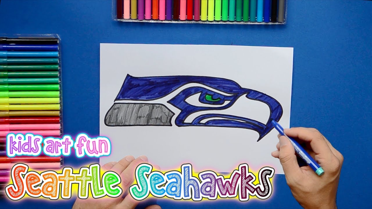1280x720 How To Draw And Color The Seattle Seahawks Logo