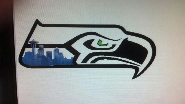 640x361 Seahawk Tattoo My Daughter Drew For Is To Get Together! Tattoos