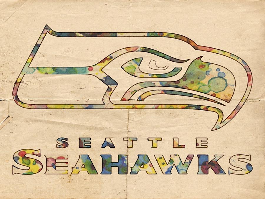 900x675 Seattle Seahawks Logo Poster Painting By Florian Rodarte