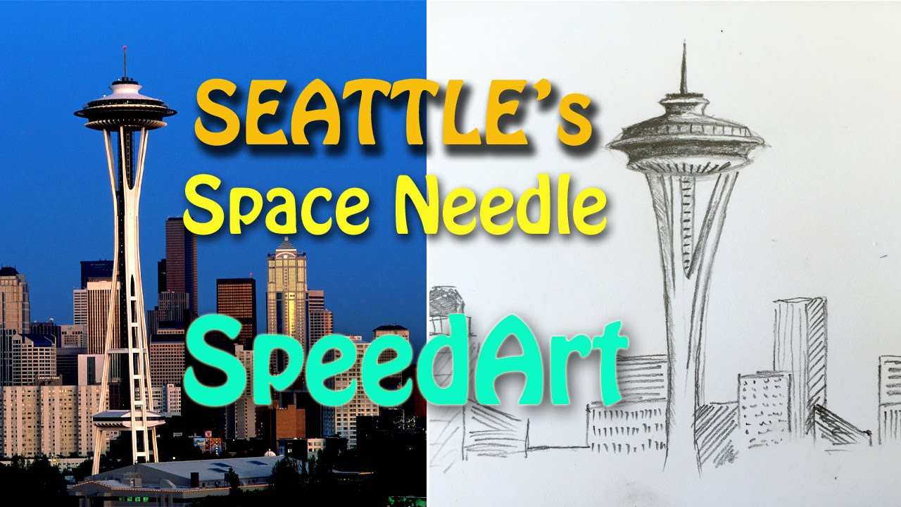 1280x720 How To Draw Seattle's Space Needle