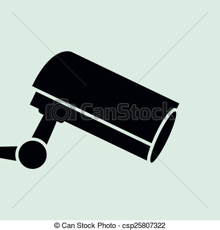 450x470 Security Camera.vector Illustration. Vector Illustration