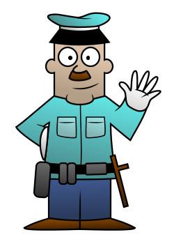 250x350 Drawing A Cartoon Policeman