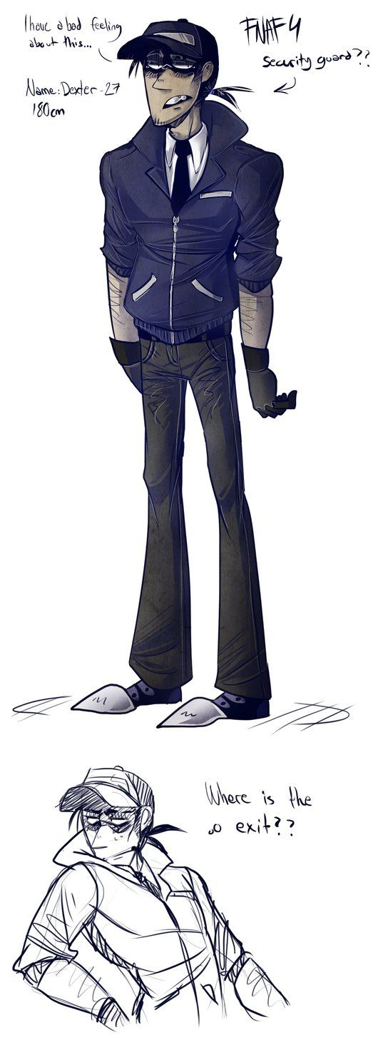 544x1470 New Security Guard By Blasticheart On Fnaf