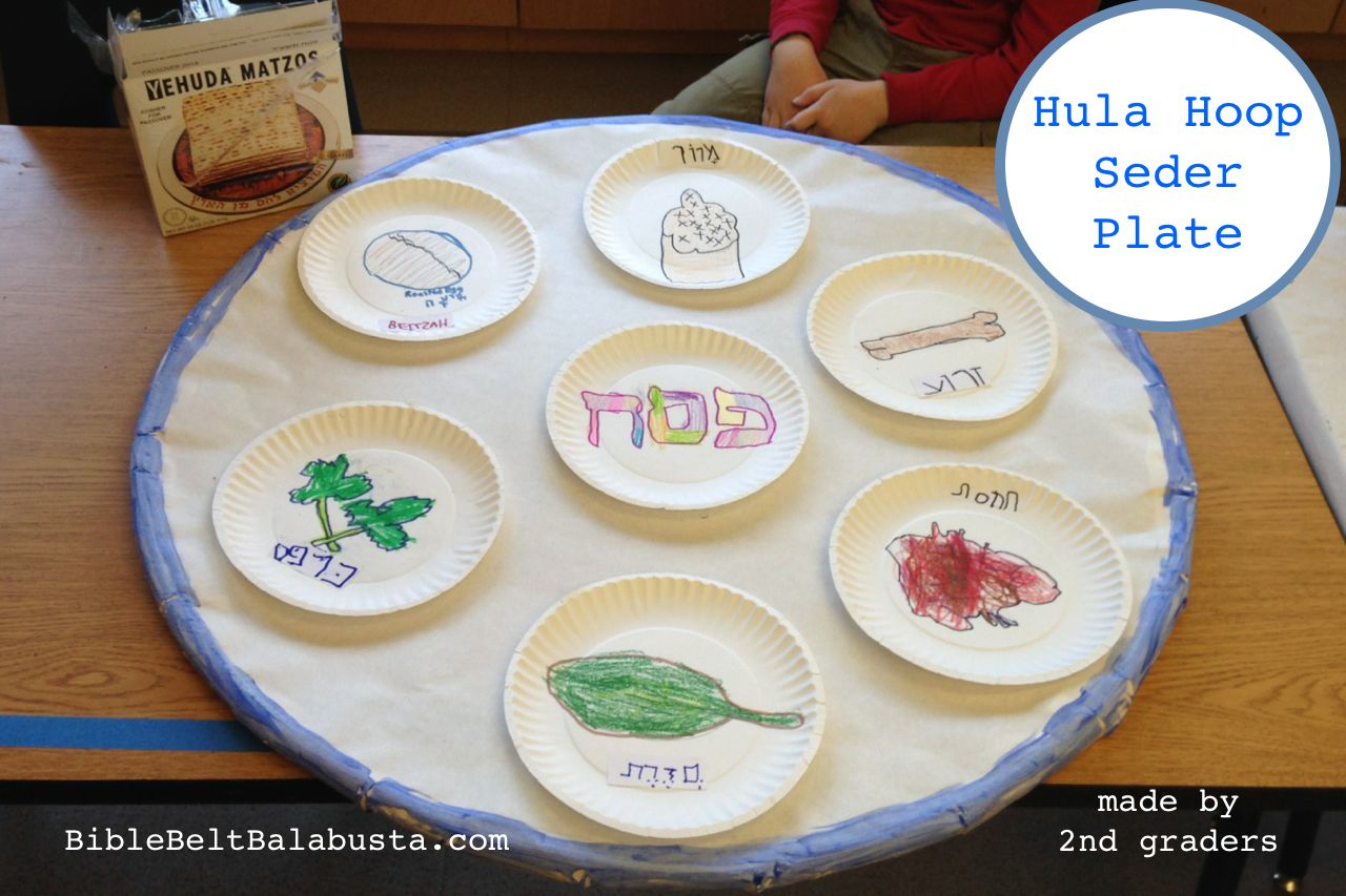 1280x853 Hula Hoop Seder Plate (Crayon Drawings) Jewish Craftsjudaica