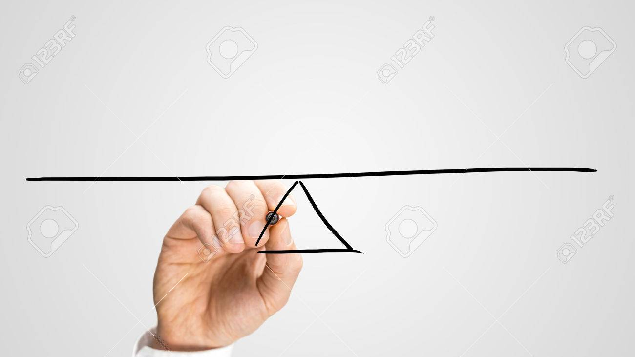 1300x731 Man Drawing A Seesaw To Demonstrate The Concept Of A Lever