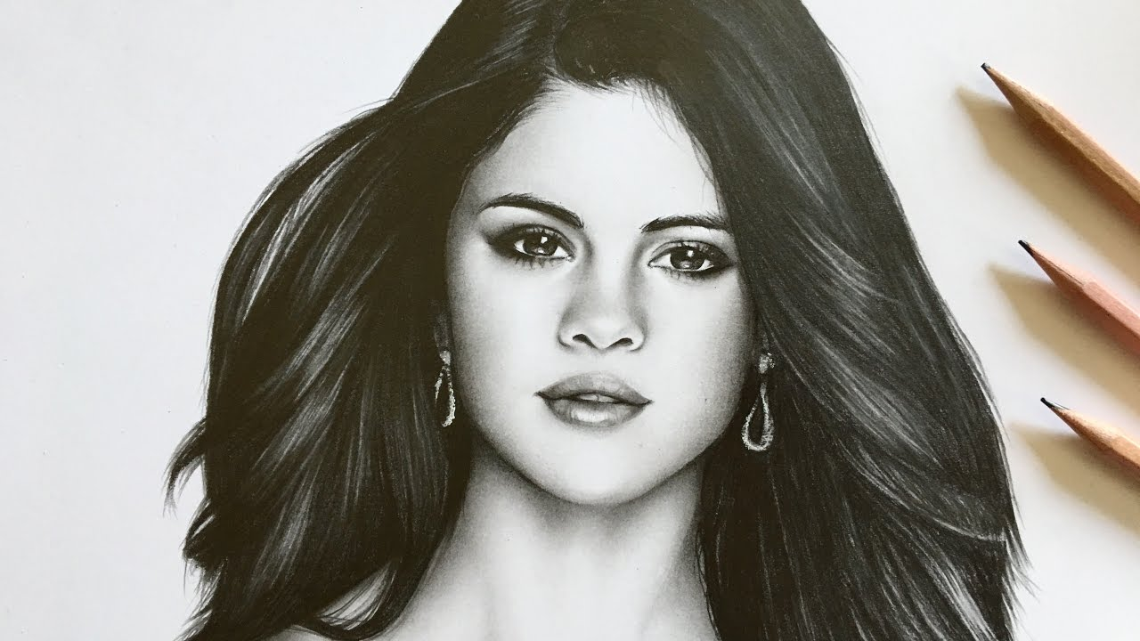 Selena Gomez Drawing At Getdrawings Com Free For