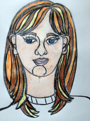 300x400 How To Draw Proportional Self Portraits With Kids Artsmudge