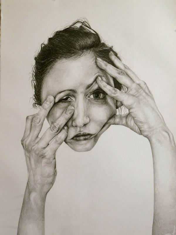 600x800 Self Deception Drawing By Gillian Lambert Drawing
