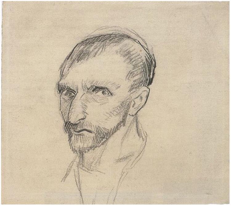 750x667 Self Portrait By Vincent Van Gogh