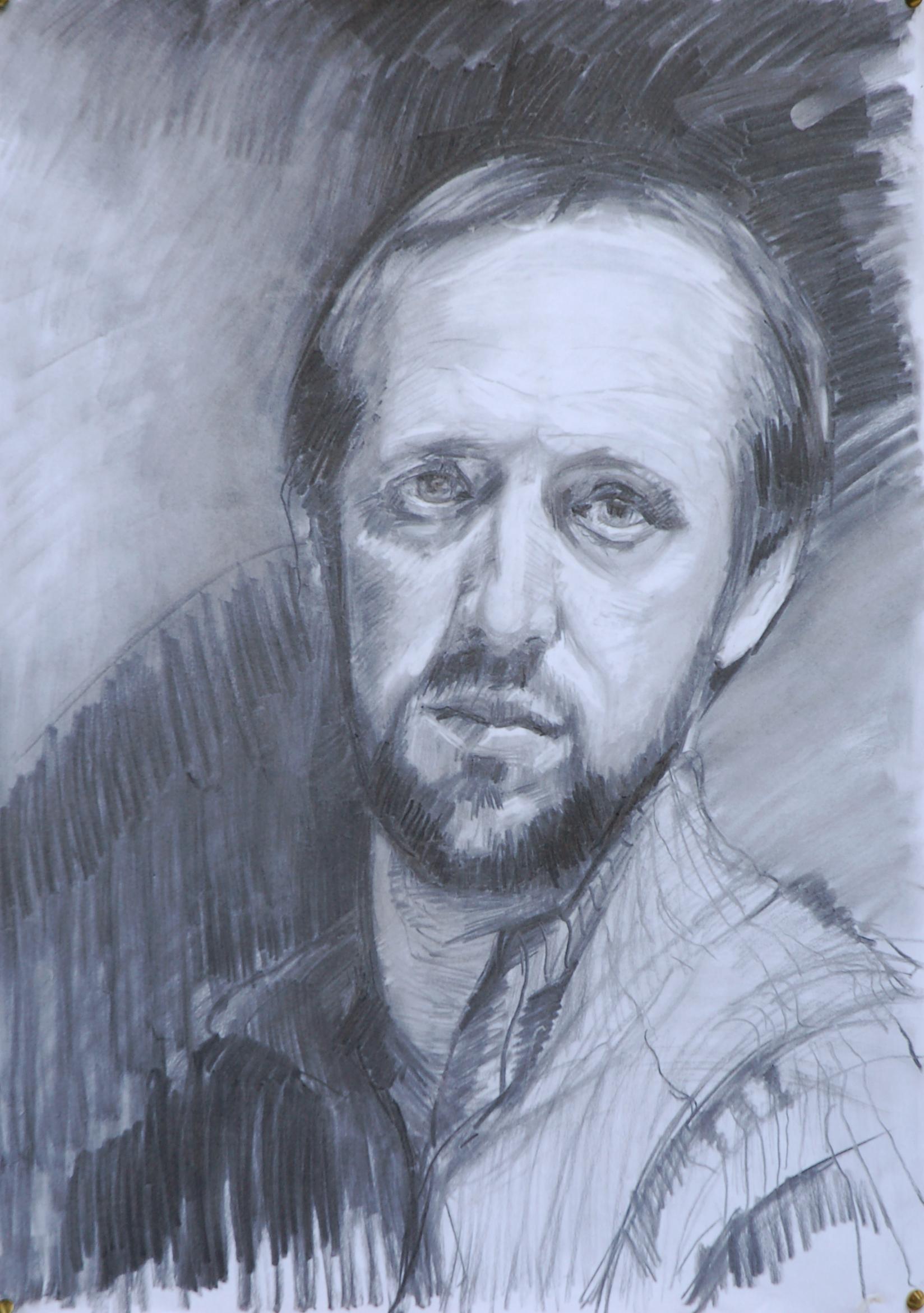 1648x2341 Self Portrait Drawing, Charcoal Joseph Galvin Artist