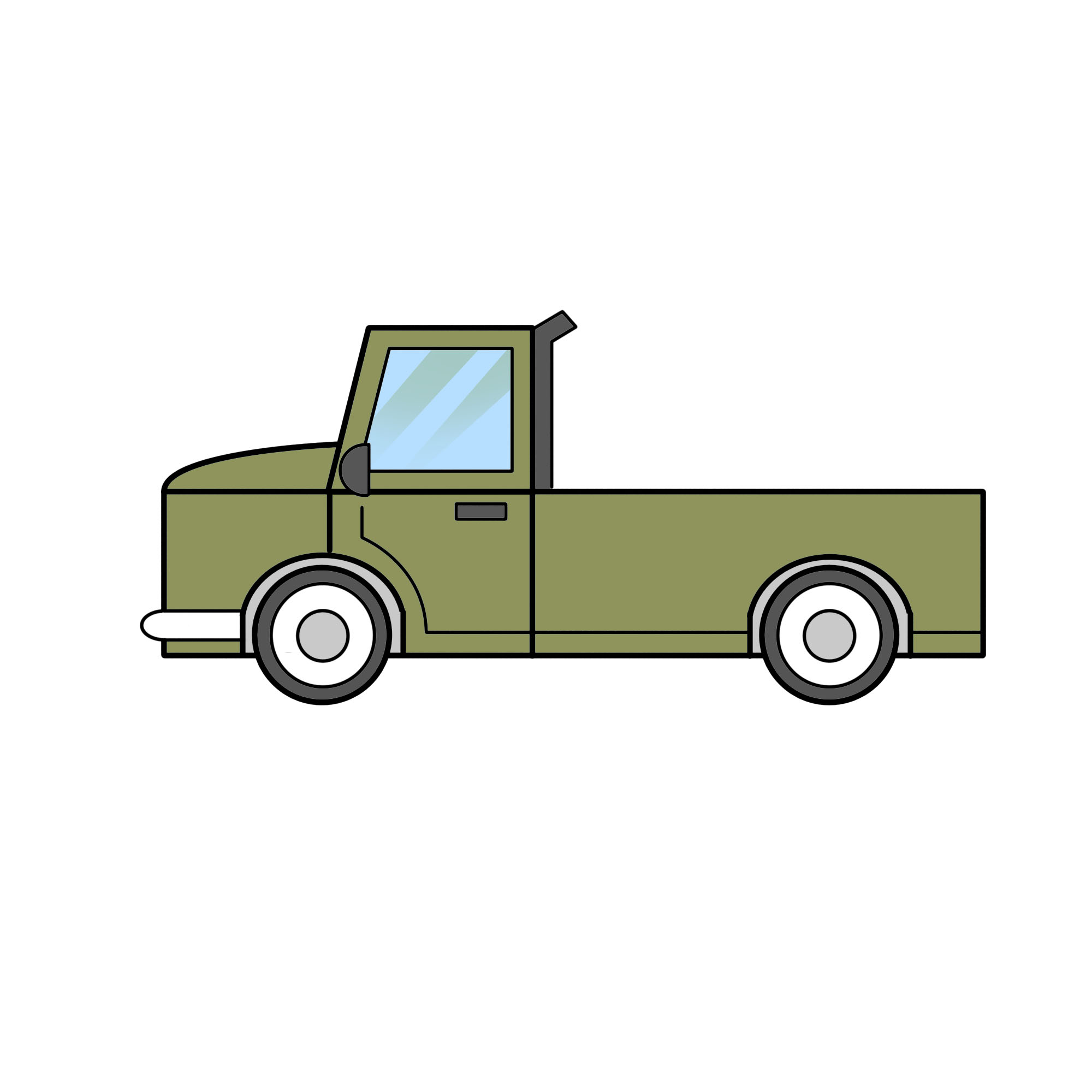 2000x2000 2 Easy Ways To Draw A Truck (With Pictures)