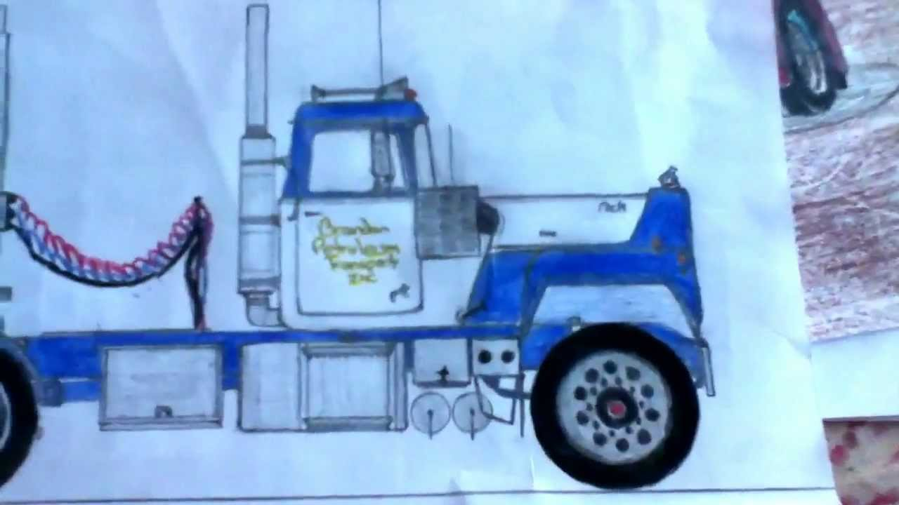 1280x720 Awesome Truck Drawings