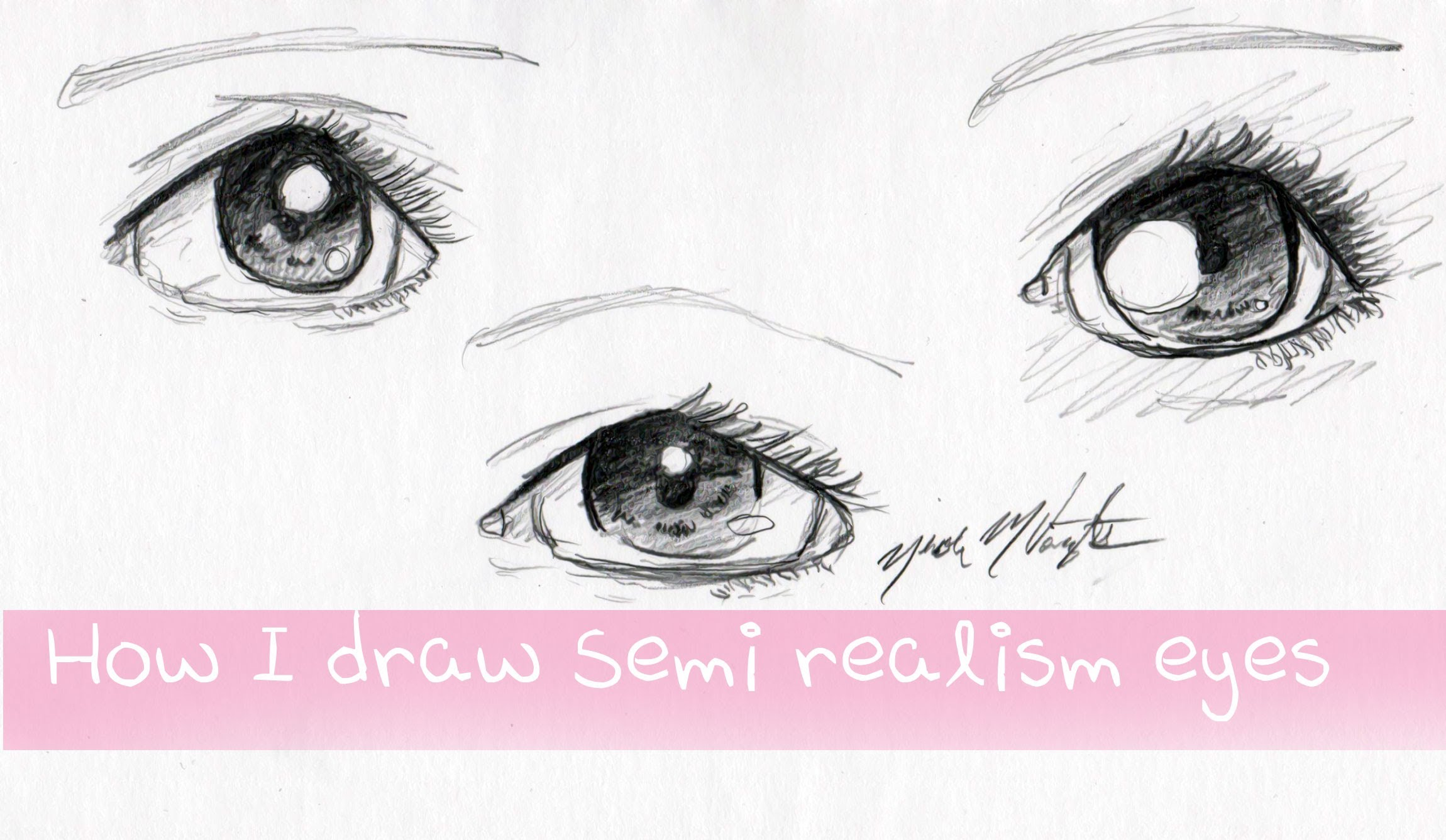 2300x1337 How I Draw Semi Realism Eyes