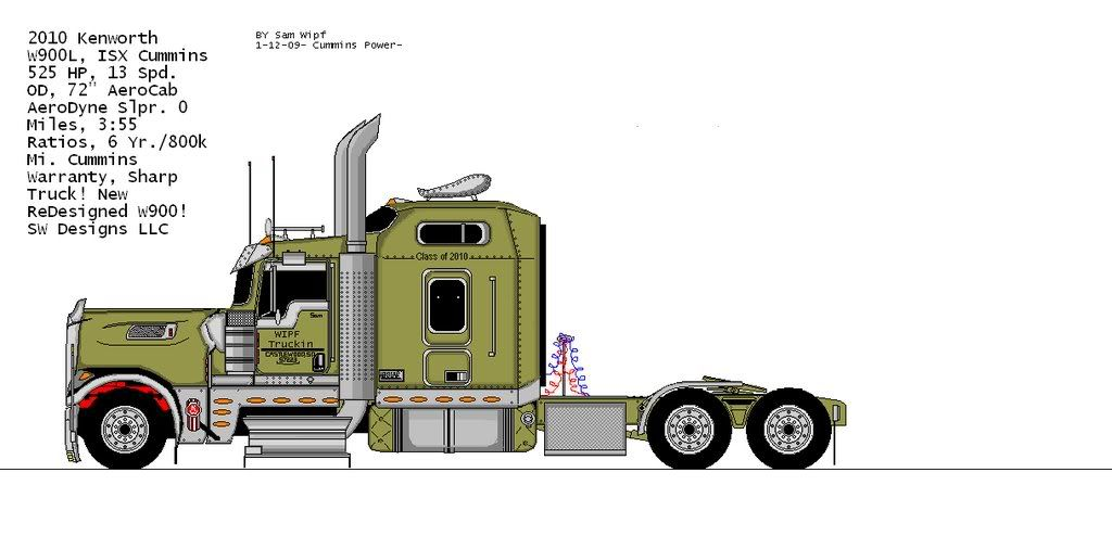 1024x506 Kenworth Semi Truck Drawings Projectstools Semi