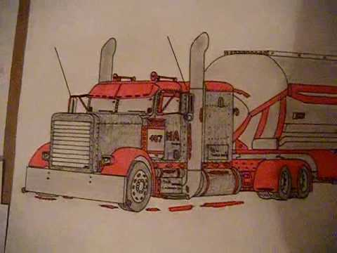 480x360 Peterbilt 379 Drawing