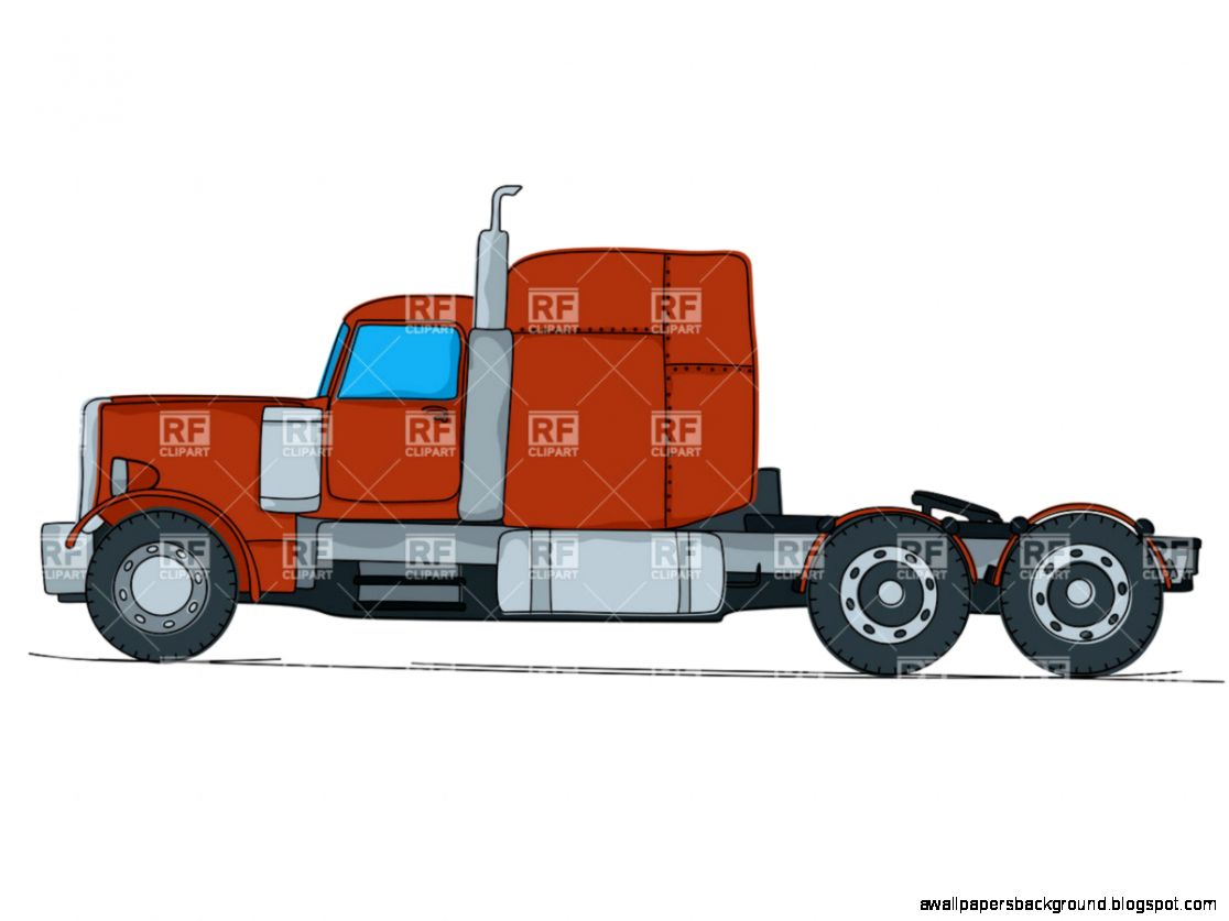 1116x837 Semi Truck Side View Drawing Wallpapers Background