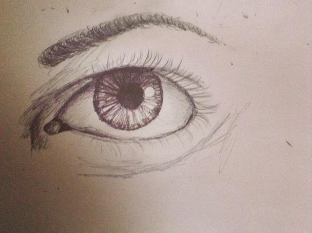 640x478 How To Draw A Semi Realistic Eye