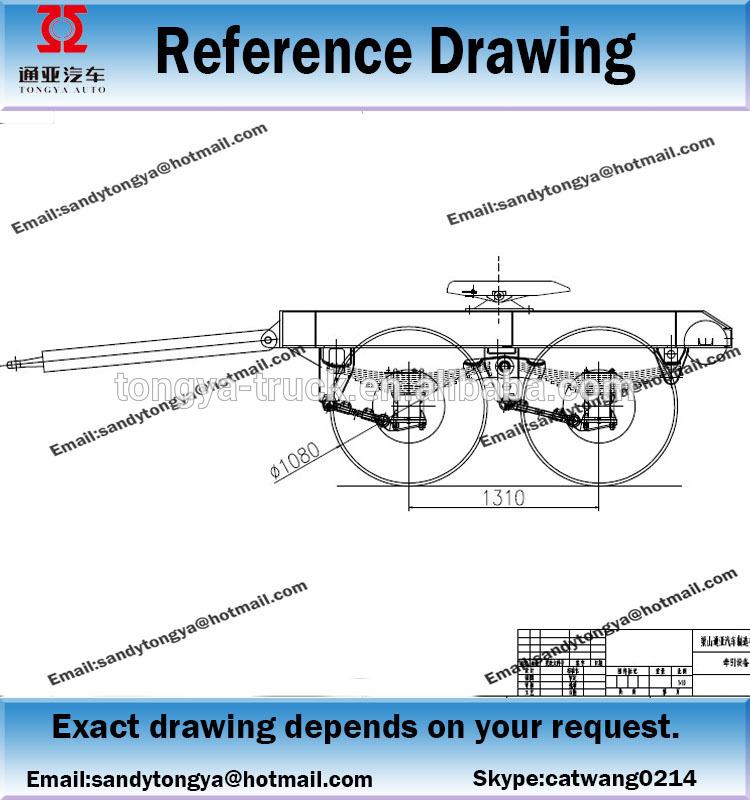 750x800 Draw Bar Trailerchina Dolly Trailer Manufacturertongya Heavy