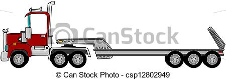 450x157 Truck Amp Lowboy Trailer. This Illustration Depicts A Semi
