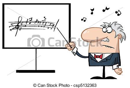450x308 Senior Music Teacher Pointing To A Music Board Vectors