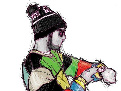 500x377 Art, Drawing, Mac Miller, Outfit, Senior Skip Day