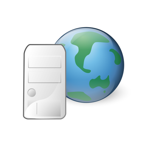 500x500 World Wide Web Server Icon Vector Drawing Public Domain Vectors