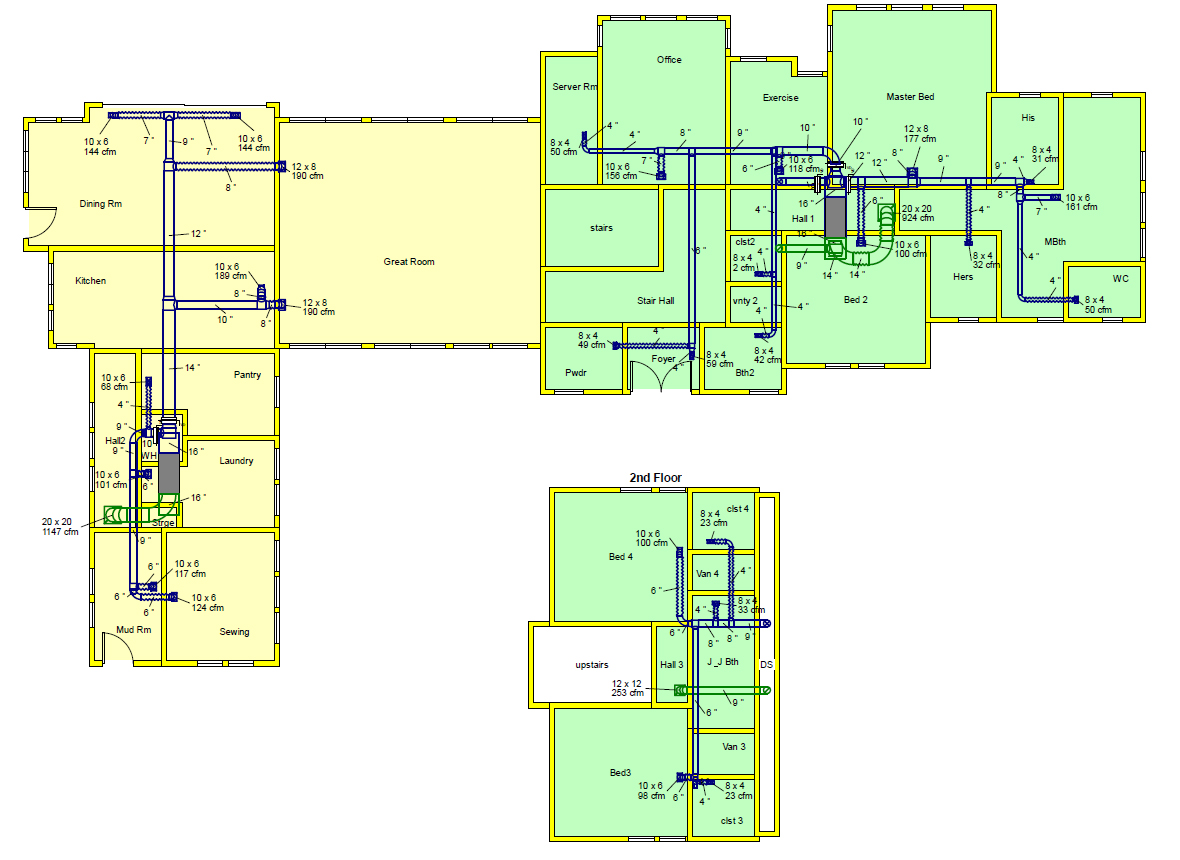 1180x860 Duct Design And Layout Drawing (Manual D)