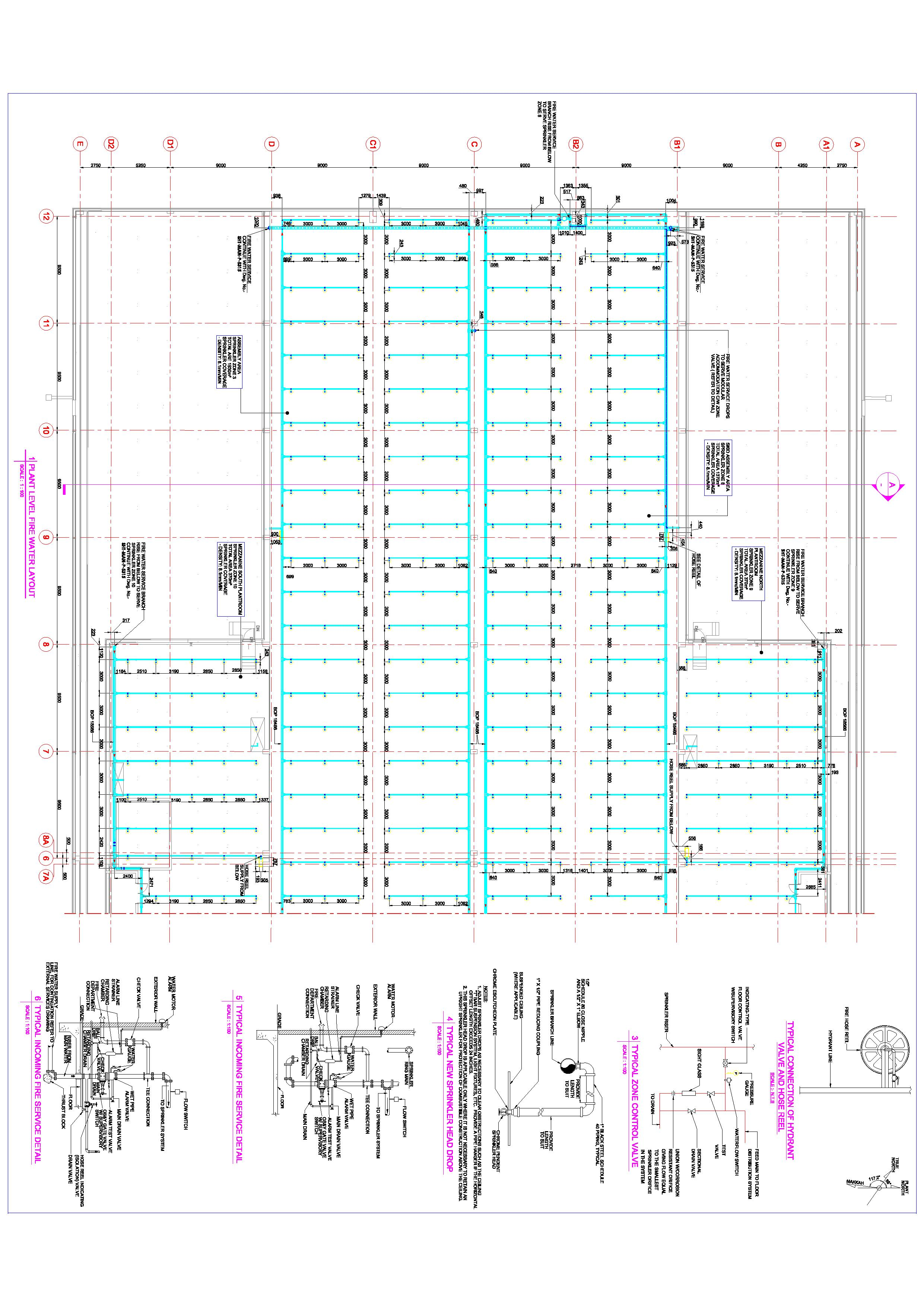 2481x3508 Plumbing Piping Shop Drawing Services