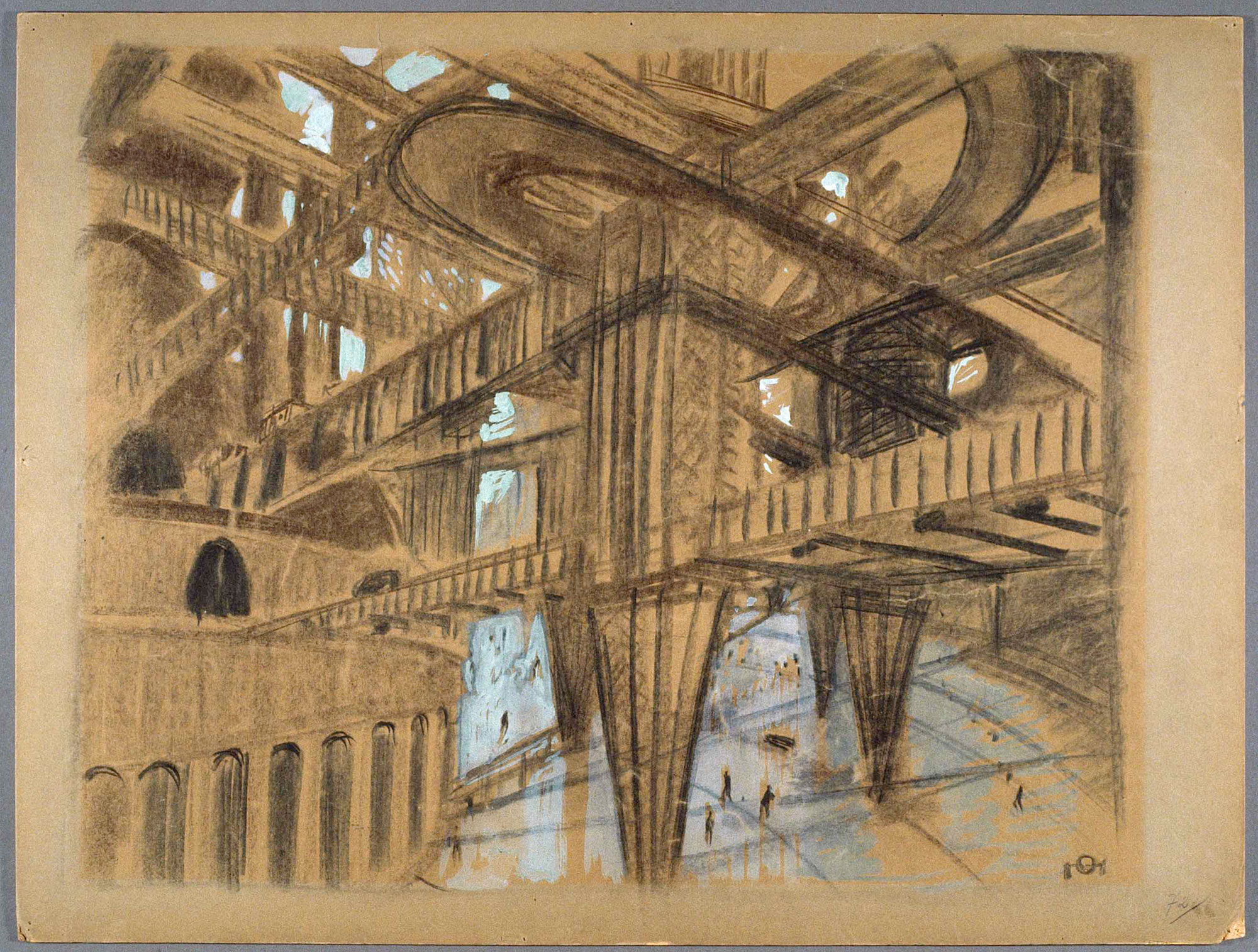 2000x1514 Otto Hunte Set Design Drawing For Metropolis Art Blart