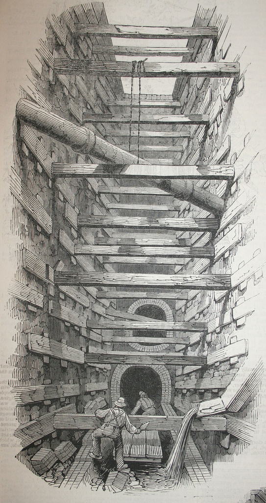 543x1024 Pictures Of The Digging Of The Fleet Sewer Ianvisits