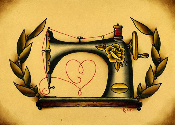 570x407 Best Ideas About Sewing Machine Tattoo On Sewing