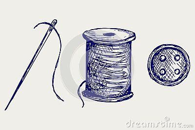 400x268 Spool With Threads And Sewing Button Tattoo Tattoo