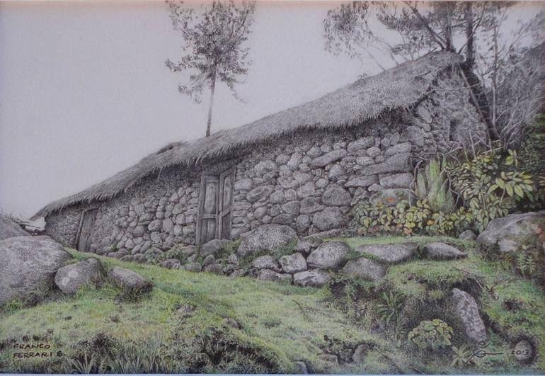 770x531 Saatchi Art Stone Shack In Markapata, Cuzco, Peru Drawing By