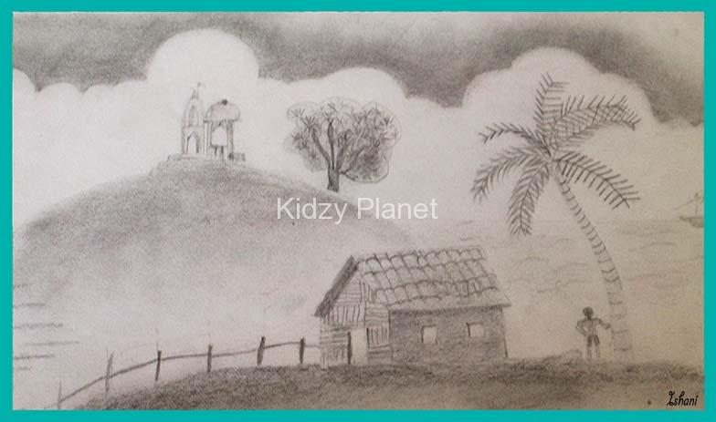 784x463 Pencil Shading Landscape Scenery