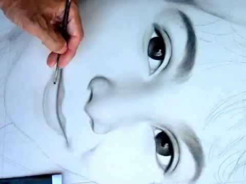 480x360 How To Draw And Shade Female Lips In Charcoal And Pencil (Step 16