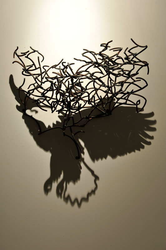 532x800 Incredible Shadow Drawings Appear Through Mangled Wires Shadow
