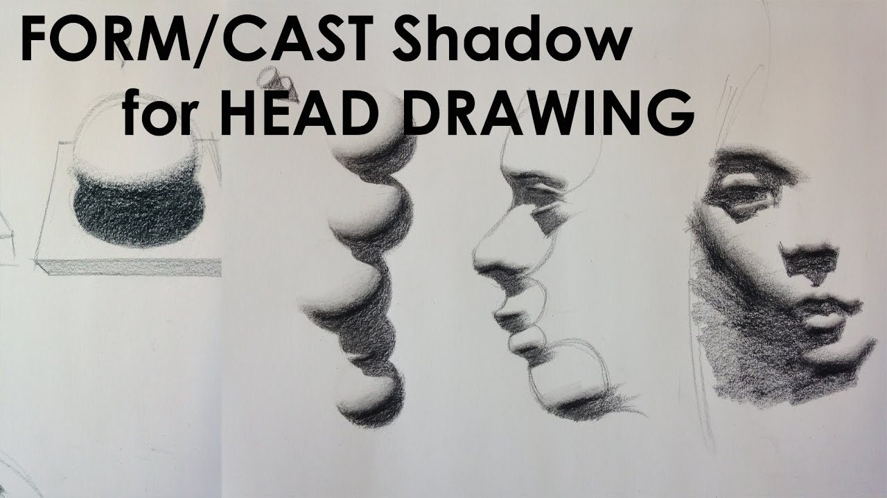 1280x720 How To Draw Head With Form And Cast Shadow Shapess.