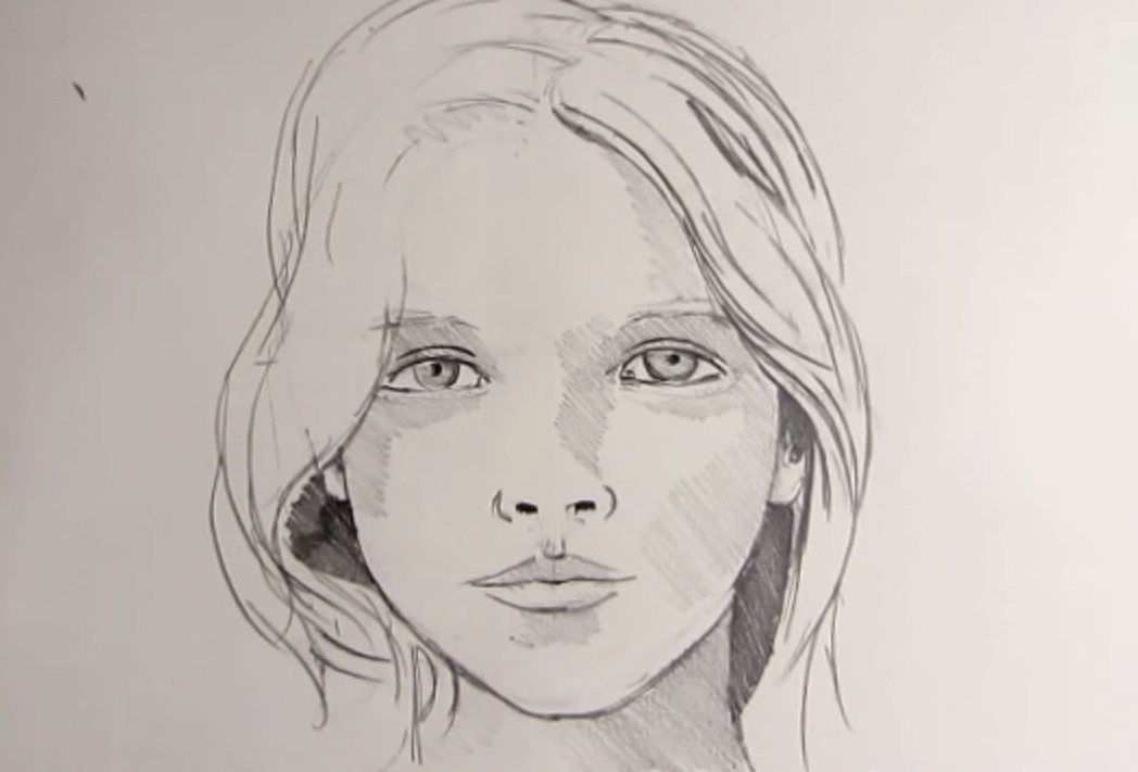 Continuous Line Drawing Face : Shadow face drawing at getdrawings free for personal use