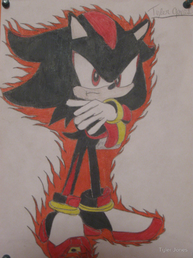 750x1000 Shadow The Hedgehog Drawing By Tyler Jones Redbubble