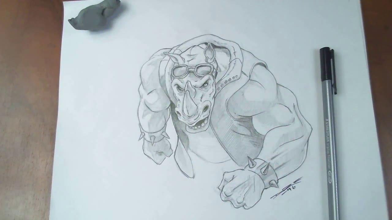 1280x720 Drawing Rocksteady