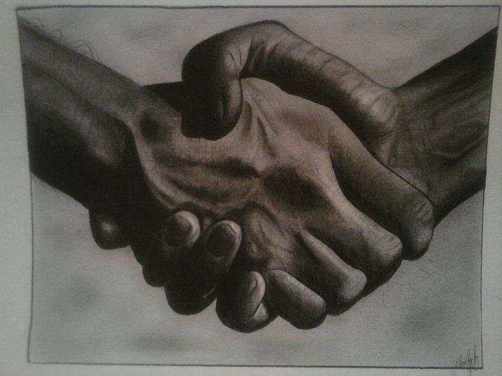 720x540 Hand Shake Digital Art By Edwin Lopez