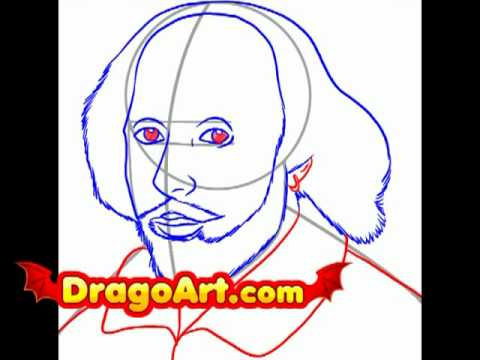 480x360 How To Draw Shakespeare, Step By Step