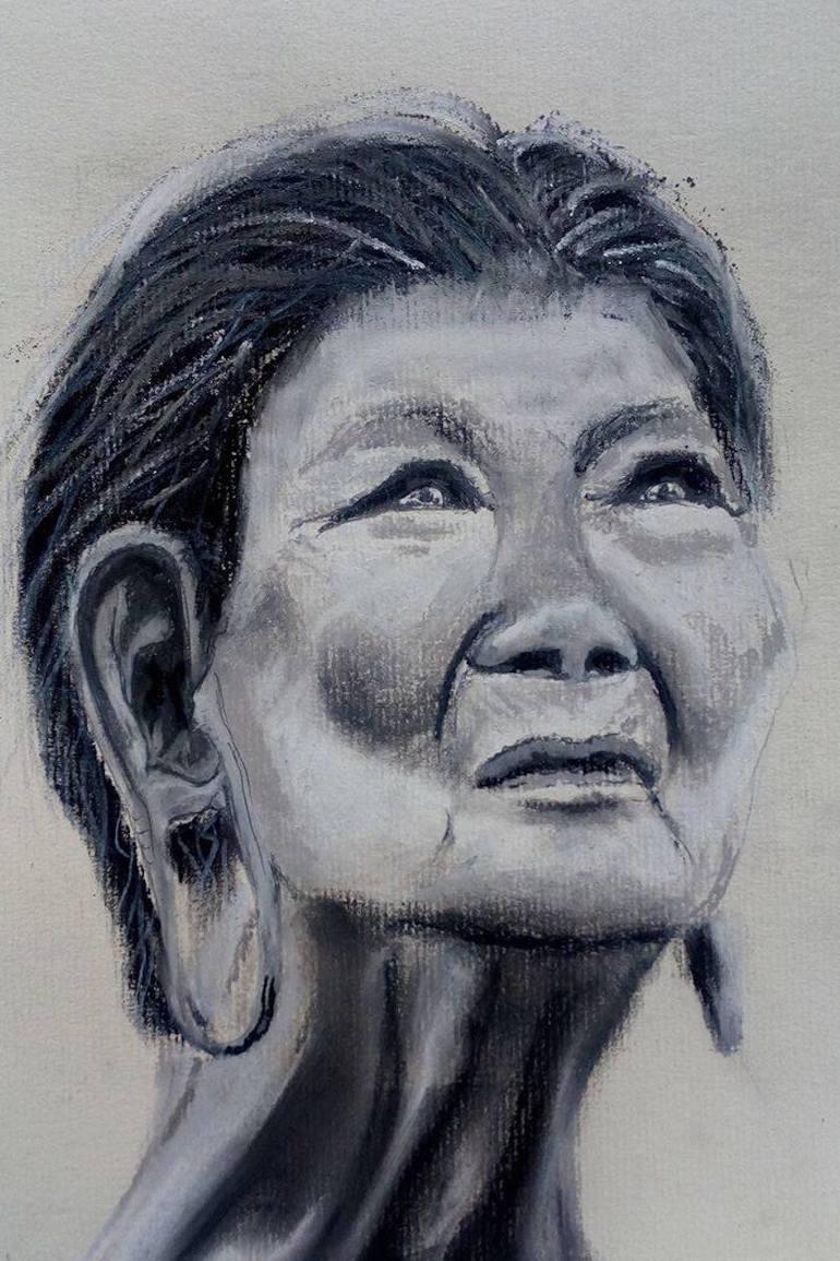770x1155 Saatchi Art Aborigine Woman Drawing By Natasha Shakespeare