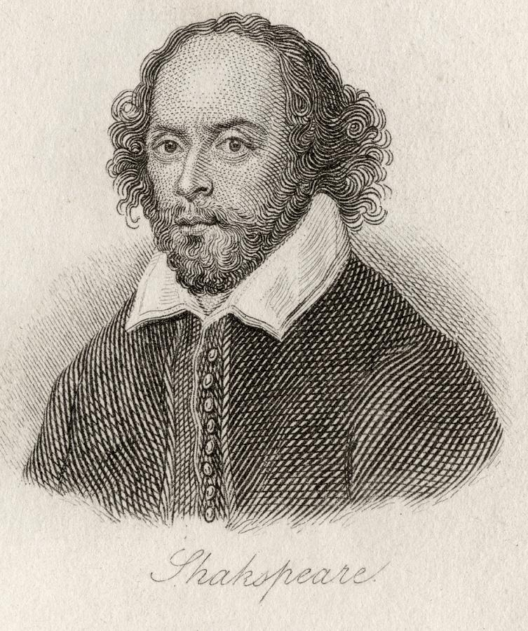 753x900 William Shakespeare, 1564 1616. English Drawing By Vintage Design Pics